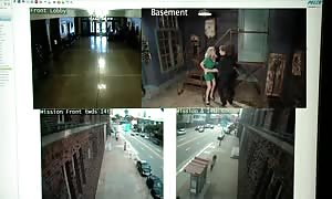 Simone Sonay entered By safety Guards In The Armory (720p)