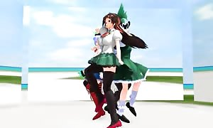 MMDCarry Me off  touhou