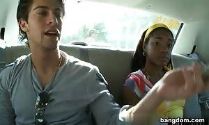 Desiree in Dutch On A Cab