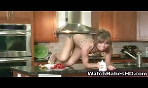 teen Capri Anderson Plays with Food!