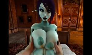 Soria dark elf 3D sex vid