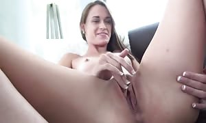 succulent sensual slut is appropriately treating her extremely tiny pussy