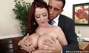 Office slut Sophie Dee is pounded rock rigid by Keiran Lee