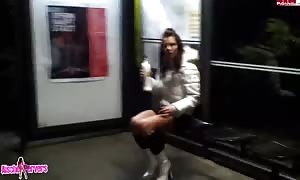 Revenge porn where I bang my nice dark haired former girlfriend girl-friend at the similar time as deepthroat blowjob in the vehicle
