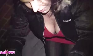 lovely mother provides face fuck in the avenue for cash