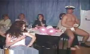 Male strippers dancing for turned on new cummers