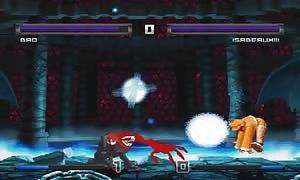Bao VS Isabeau XIII cartoon fight
