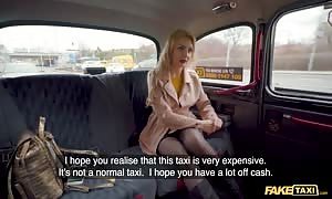faux Taxi Caty Kiss wants to Pay with hot unprotected breasted Selfies