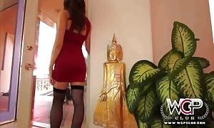 WCP CLUB oriental tiny babe Miko goes ass sex sex with a ebony manhood