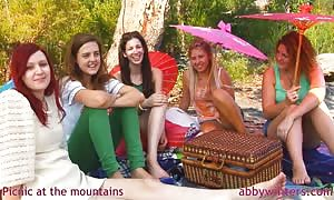 epic cuties and Abby Winters are having a good lunch