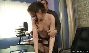 Andy Brown will get inserted into and harassed in her office