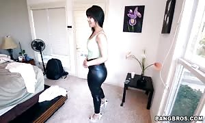 remarkable dark haired getting your hands on your hands on demonstrating her large bums