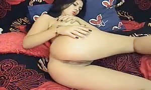 Curly-haired enormous breasted mom shows us a little turned on positions