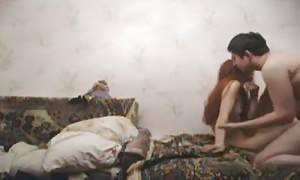 adorable Russian new cummer girl-friend slurps cock and gets amateur slammed
