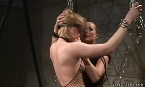 hardcore bondage take advantage of and sado masochism screw with sloppy girls named Katy Parker and Steffie