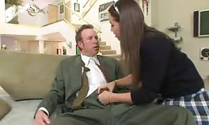 adorable schoolgirl inserted into until he finishes off