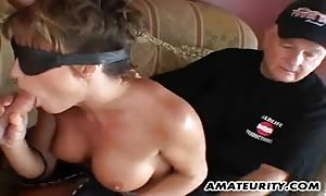 big-titted beginner girlfriend ass sex 3 way with cum-shot facial