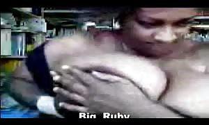 massive boob black old woman